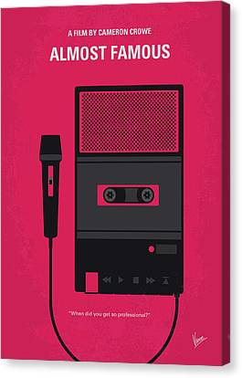 No781 My Almost Famous Minimal Movie Poster Canvas Print by Chungkong Art