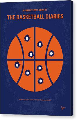 No782 My The Basketball Diaries Minimal Movie Poster Canvas Print by Chungkong Art