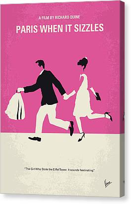 No785 My Paris When It Sizzles Minimal Movie Poster Canvas Print