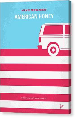 No786 My American Honey Minimal Movie Poster Canvas Print by Chungkong Art