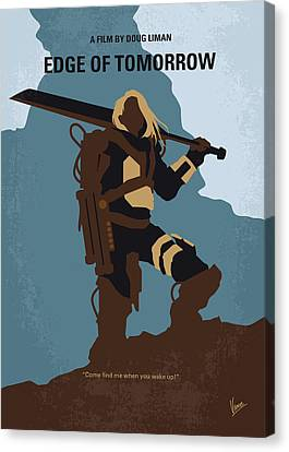 Alien Planet Canvas Print - No790 My Edge Of Tomorrow Minimal Movie Poster by Chungkong Art