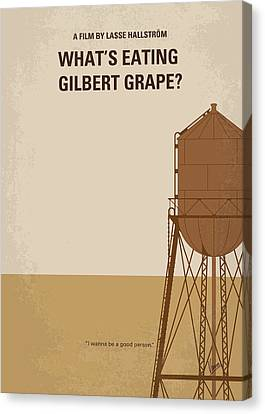 Johnny Depp Canvas Print - No795 My Whats Eating Gilbert Grape Minimal Movie Poster by Chungkong Art