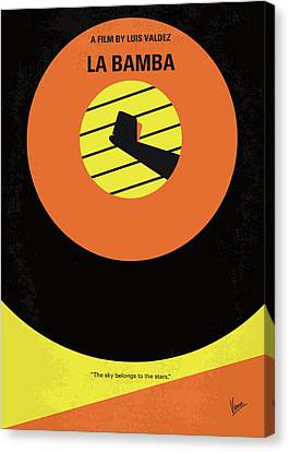 No797 My La Bamba Minimal Movie Poster Canvas Print by Chungkong Art