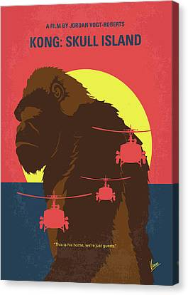 No799 My Skull Island Minimal Movie Poster Canvas Print by Chungkong Art