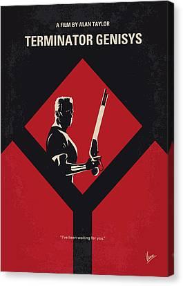 Schwarzenegger Canvas Print - No802-5 My The Terminator 5 Minimal Movie Poster by Chungkong Art