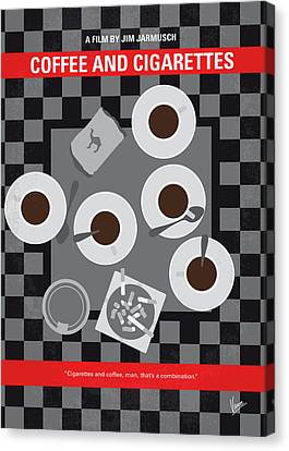 Wait Canvas Print - No808 My Coffee And Cigarettes Minimal Movie Poster by Chungkong Art