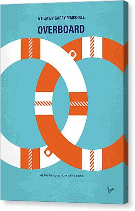 No815 My Overboard Minimal Movie Poster Canvas Print
