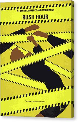 No816 My Rush Hour Minimal Movie Poster Canvas Print