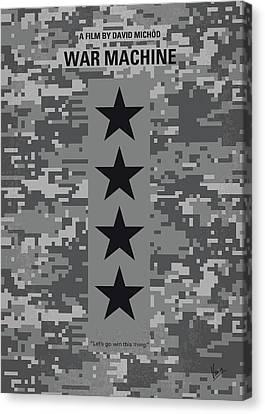 No817 My War Machine Minimal Movie Poster Canvas Print