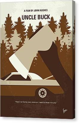 No818 My Uncle Buck Minimal Movie Poster Canvas Print