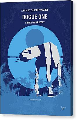 No819 My Rogue One Minimal Movie Poster Canvas Print by Chungkong Art