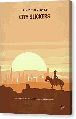 No821 My City Slickers Minimal Movie Poster Canvas Print