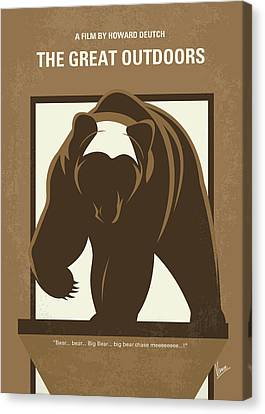 No824 My The Great Outdoors Minimal Movie Poster Canvas Print