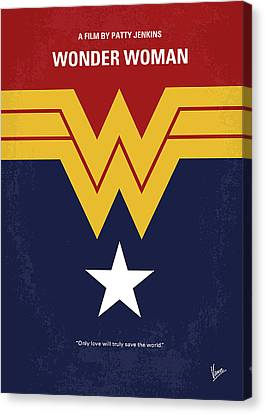 Destiny Canvas Print - No825 My Wonder Woman Minimal Movie Poster by Chungkong Art