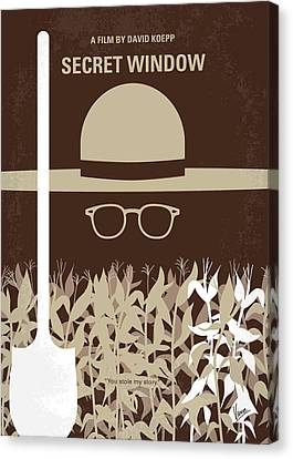 Johnny Depp Canvas Print - No830 My Secret Window Minimal Movie Poster by Chungkong Art