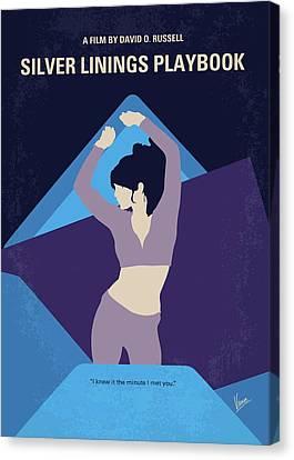 Mental Health Canvas Print - No832 My Silver Linings Playbook Minimal Movie Poster by Chungkong Art