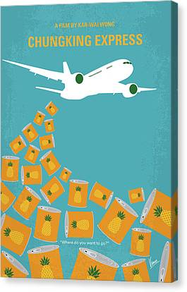 Hong Kong Canvas Print - No835 My Chungking Express Minimal Movie Poster by Chungkong Art