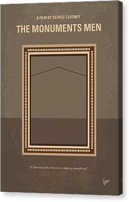 Clooney Canvas Print - No845 My The Monuments Men Minimal Movie Poster by Chungkong Art