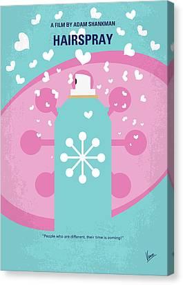 Linked Canvas Print - No856 My Hairspray Minimal Movie Poster by Chungkong Art