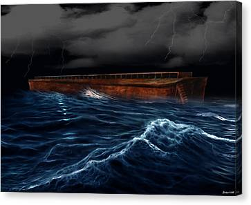 Noah Ark Canvas Print by Evelyn Patrick
