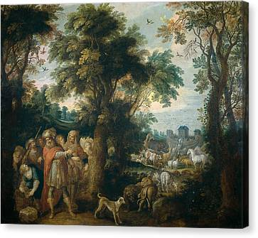 Noah Directs The Entry Of Animals Into The Ark Canvas Print by Frans Francken the Younger