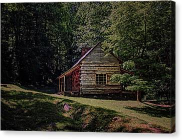 Tennessee Historic Site Canvas Print - Noah Ogle - Cabin by Nikolyn McDonald