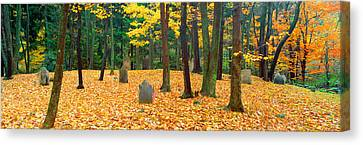 Noah Phelps Grave In Revolutionary War Canvas Print by Panoramic Images