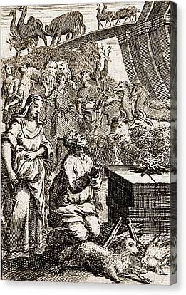 Noah Preparing First Sacrifice After Canvas Print by Wellcome Images