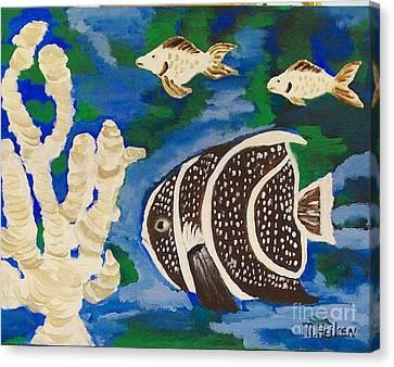 Noah's Aquarium Canvas Print by Marsha Heiken