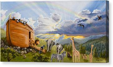 Noah's Ark Canvas Print by Cheryl Allen