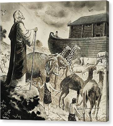 Noah's Ark Canvas Print by Clive Uptton