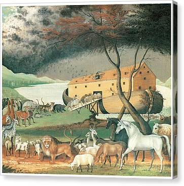 Noah's Ark Canvas Print by Edward Hicks