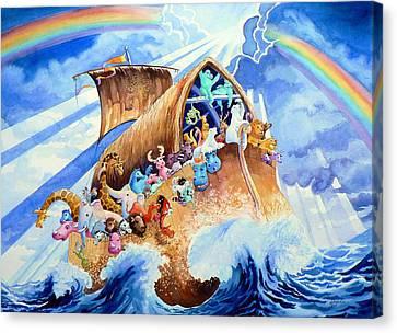 Religious Artist Canvas Print - Noahs Ark by Hanne Lore Koehler