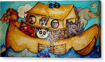 Noah's Ark Canvas Print by Jean Habeck