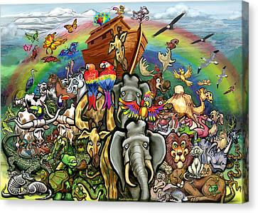 Noah's Ark Canvas Print by Kevin Middleton