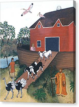 Noah's Ark Two Canvas Print by Linda Mears