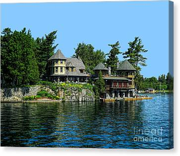 Hdr Landscape Canvas Print - Nobby Island Home Thousand Islands Saint Lawrence Seaway by Rose Santuci-Sofranko