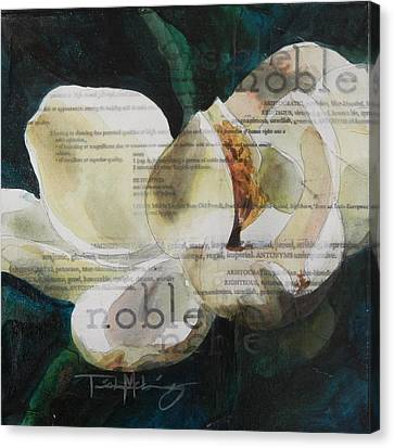 Noble - Magnolia Canvas Print by Trish McKinney