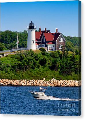 Nobska Point Light Canvas Print by Mark Miller
