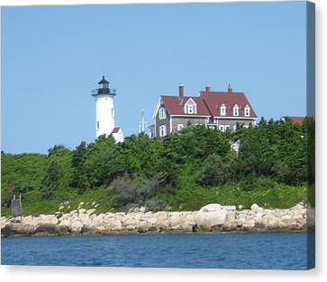 Nobska Point Lighthouse Canvas Print by Donna Walsh