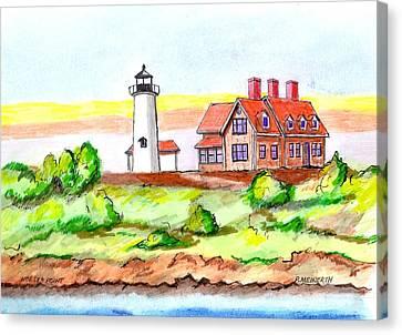 Nobska Point Lighthouse Canvas Print by Paul Meinerth