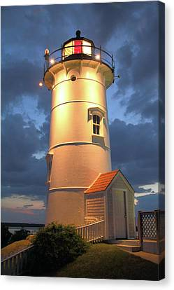 Canvas Print featuring the photograph Nobska Point Lighthouse by Roupen  Baker