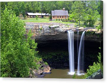 Noccolula Falls Gadsden Alabama Canvas Print by Kathy Clark
