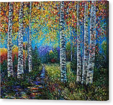 Nocturne Blue - Palette Knife Canvas Print