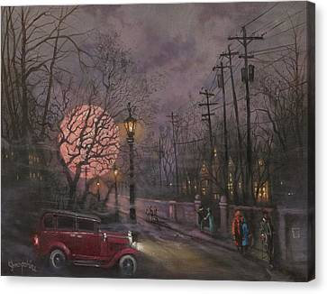 Nocturne In Lavender Canvas Print by Tom Shropshire