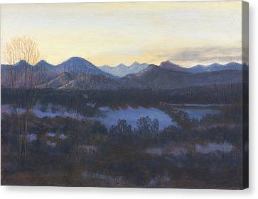 Nocturne On The Front Range Of Colorado Canvas Print by Diane Edwards