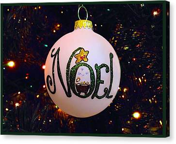 Noel Ornament Christmas Card Canvas Print by Morgan Carter