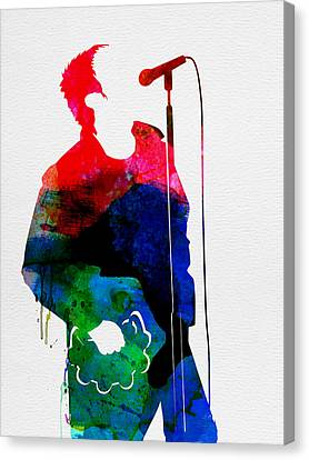Noel Watercolor Canvas Print by Naxart Studio