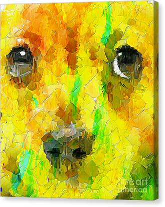 Noise And Eyes In The Colors Canvas Print