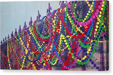 Mardi Gras Beads Canvas Print